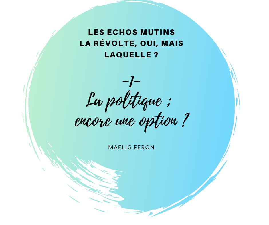 Chronique : Les échos mutins -1- La révolte, oui, mais laquelle ?